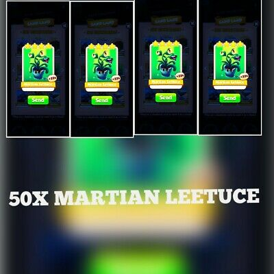 50x Martian Lettuce Combo:- Coin Master Cards ( Fastest Delivery)