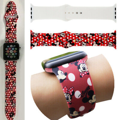 Mickey Wrist Strap Silicone Sport Band For Apple Watch Series 4 3 2 1 Watchband