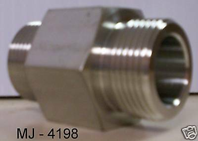 PAMCO - Stainless Steel Tube to Boss Straight Adapter - P/N: 5335904 (NOS)