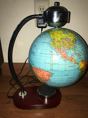 "8"" Globe Floating Magnetic World Map Blue Ocean Electric Sphere Levitating?"