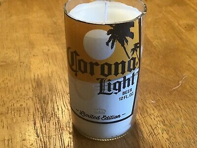 Corona Light Limited Handmade Beer bottle Soy Candle - Essential Oil Peppermint