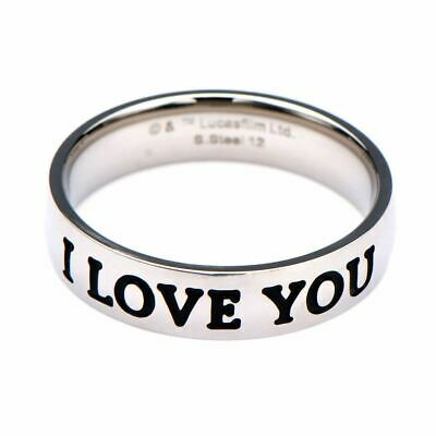 Star Wars I Love You I Know Fashion Ring - Boxed Han Solo Leia Jewellery