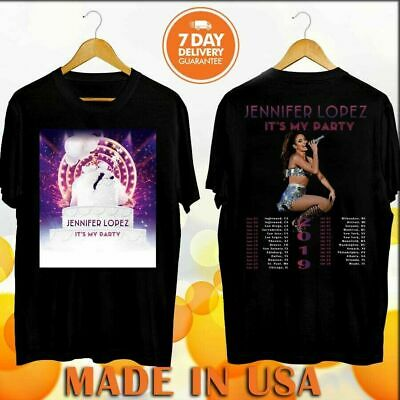 NEW Jennifer Lopez Its My Party Tour 2019 with dates Black T-Shirt