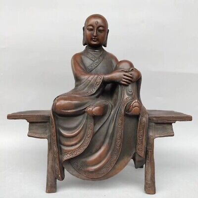 China ancient copper Buddha statue folk collection AAA005