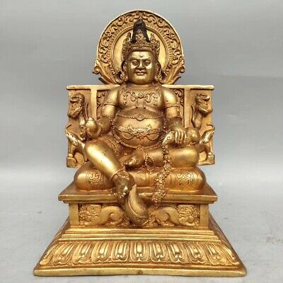 Ancient Chinese gilt Buddha statues ornaments folk collection AAA054