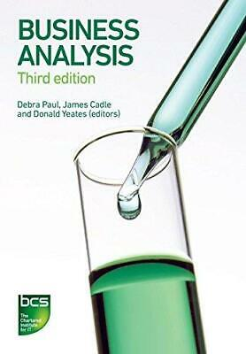 Business Analysis by James Cadle and Malcolm Eva Paperback NEW Book