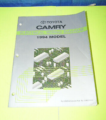1994 toyota camry oem evtm electrical wiring diagram service manual book