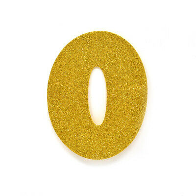 """EVA Glitter Number Cut Out """"0"""", Gold, 4-1/2-Inch, 12-Count"""