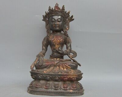 China ancient copper Buddha statue folk collection  AAA  082