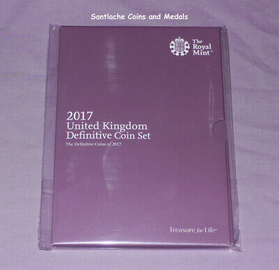 2017 Royal Mint Definitive Brilliant Uncirculated Set Coins - Mint Sealed