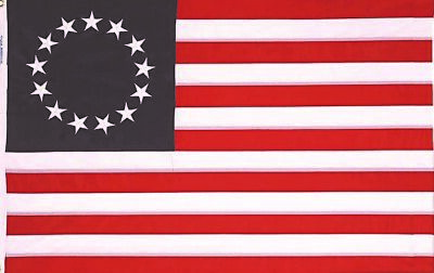 BETSY ROSS Flag 3x5 Feet 100% American Made In USA Flag Brass Grommets USA 1776