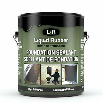 Liquid Rubber Foundation Sealant/Basement Coating -Water Based| Black | 1 Gallon