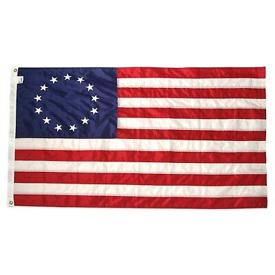 BETSY ROSS Flag 12x18 Inch 100% American Made Nylon Flag Brass Grommets Boat1776