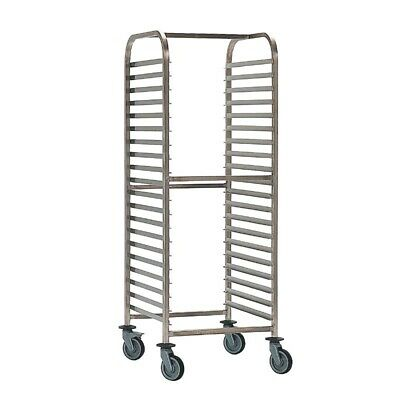 Bourgeat Double Gastronorm Racking Trolley 20 Shelves - P062