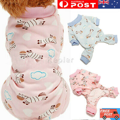 Small Pet Dog Hoodie Pajamas Pyjamas Puppy Jumpsuit Casual Clothes Sleeepwear
