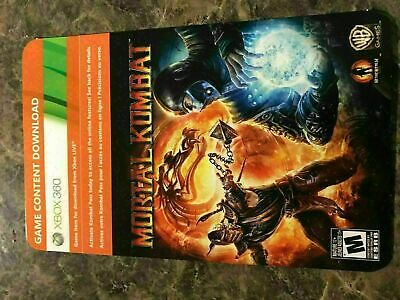 Mortal Kombat Online Pass Access - Xbox 360 - Dlc Add On