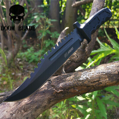 Fixed Blade Knife Camping Hunting Army Survival Outdoor Tool Straight Knives