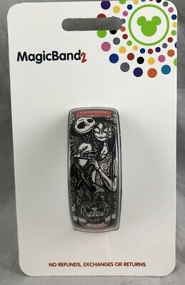 Disney Parks Nightmare Before Christmas Jack Sally Magic Band 2 WDW - NEW