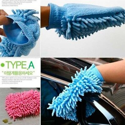 Easy Microfibre Car Kitchen Household Wash Washing Cleaning Glove Mitt
