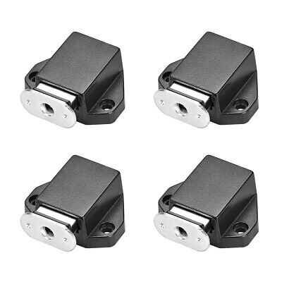 Touch Magnetic Latches Press Catch Latch for Cabinet Door Cupboard Black 4pcs