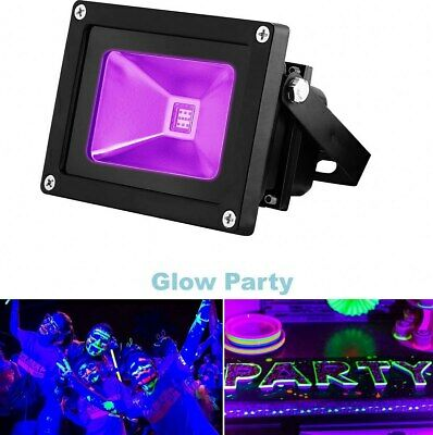 Black Light Security Flood Outdoor Waterproof UV LED Light Lamp High Power Party