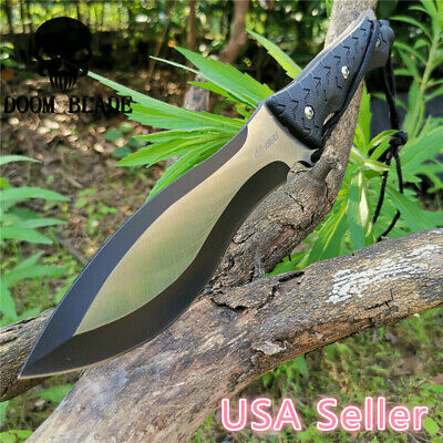 Fixed Blade Knife Camping Hunting Survival Combat Tactical Straight Tool Knives