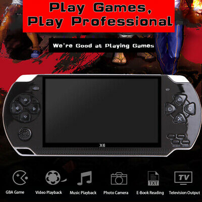 X6 8G 4.3NCH 64Bit 1000+Games Built-In Portable Handheld Video Game & Console
