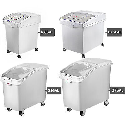Ingredient Storage Bin 21/27 Gallon Mobile Container w/Scoop Commercial Kitchen