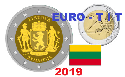 2 €   Lituanie  2   X  Piece  Commemorative   Region   Samogitie     2019   2019
