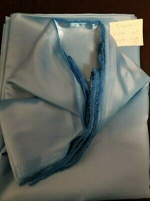 "Satin Charmeuse Wedding Bridal Silky Fabric Turquoise 60"" X 5 Yards 33"""