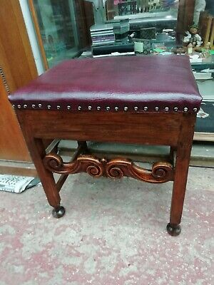 Victorian Piano Stool with Storage