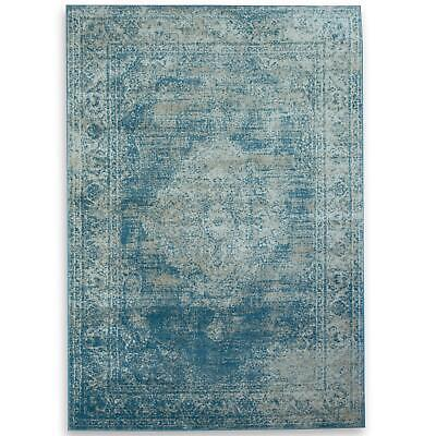 Small Extra Large Long Blue Runners Carpets Classic Vintage Style Floor Rugs Mat