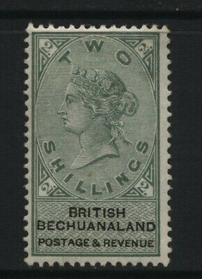 British Bechuanaland QV 2s Green / Black Stamp Mounted Mint