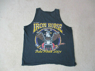 MOTORCYCLE T-SHIRT Iron Horse Saloon Ormond Beach Fl (L, Cotton Long