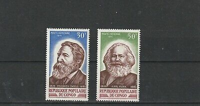a90 - CONGO - SG240-241 MNH 1970 FOUNDERS OF COMMUNISM - MARX & ENGELS