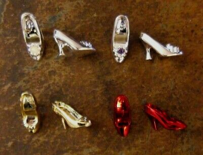 BARBIE DOLL SHOES a10 - 4 PAIRS of ASSORTED METALLIC HEELS