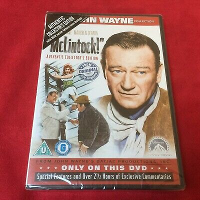 McLintock DVD - Authentic Collectors Edition -  Pal UK - New & Sealed-
