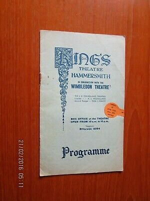 1936 Kings Theatre Hammersmith Lilac Time  Programme