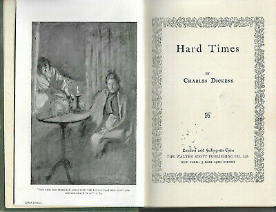 Antique hardback book Hard Times by Charles Dickens c1911 vgc