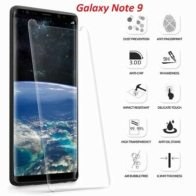 Samsung Galaxy Note 9 Clear Tempered Glass Screen Protector Cover Case Friendly