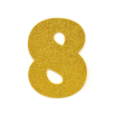 "EVA Glitter Foam Number Cut Out ""8"", Gold, 4-1/2-Inch, 12-Count"
