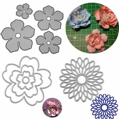 Rose Flower Metal Cutting Dies Stencils Embossing Paper DIY Craft Scrapbook Cuts