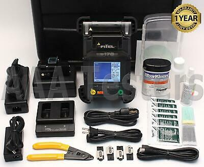 FiTeL S-178A SM MM Fiber Core Alignment Fusion Splicer w/ Cleaver S178 S178A
