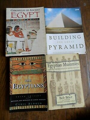 Lot of 4 Ancient Egypt Paperback Books Informative Nonfiction Pyramid Mummies