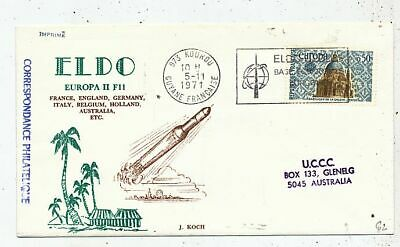 Timbre  Avion Aviation Fdc Eldo Europa Ii F11 Vers Australie 1971