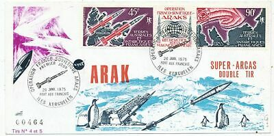 Timbre  Avion Aviation Operation Franco-Sovietique Arak En Terre Australe 1975