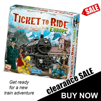 Brand new Ticket To Ride Europe Board Game Great Gift Idea