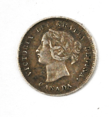 1898 Canada 5c Five Cents Silver Coin Half Dime KM# 2 Low Mintage