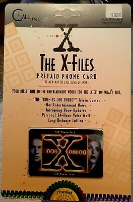 The X Files 1995 Frontier PRE PAID Phone Card NO VALUE on Card