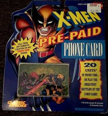 1994 Marvel X-MEN Pre-paid Phone C No Value On Card Sold As Collectable